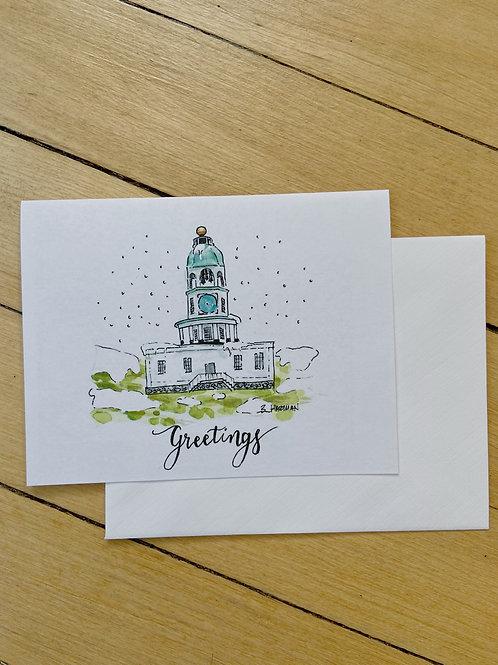 Holiday Halifax Clock Tower Card | BardBardBard