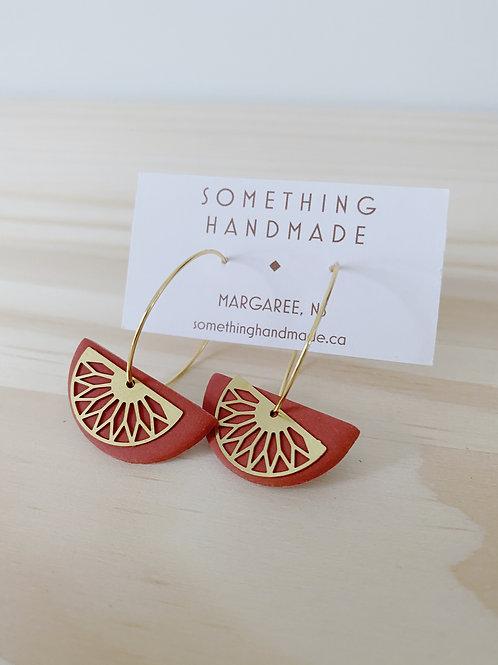 Elliana Sedona Hoop Earrings | Something Handmade