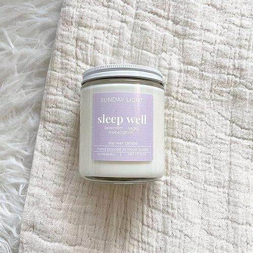 Sleep Well | lavender + eucalyptus + sage | Sunday Light Candle Co.