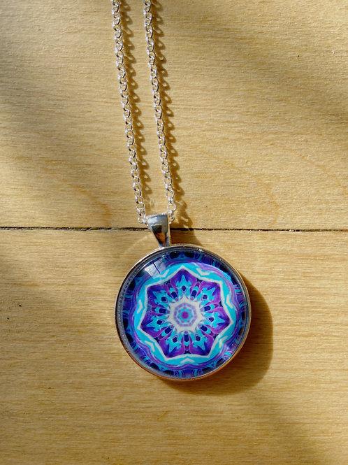 Mandala Silver Necklace   Susan Corbin