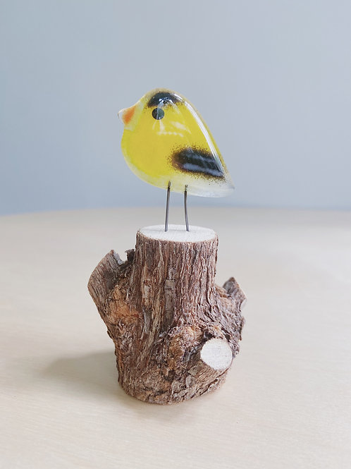 Small Standing Goldfinch   The Glass Bakery