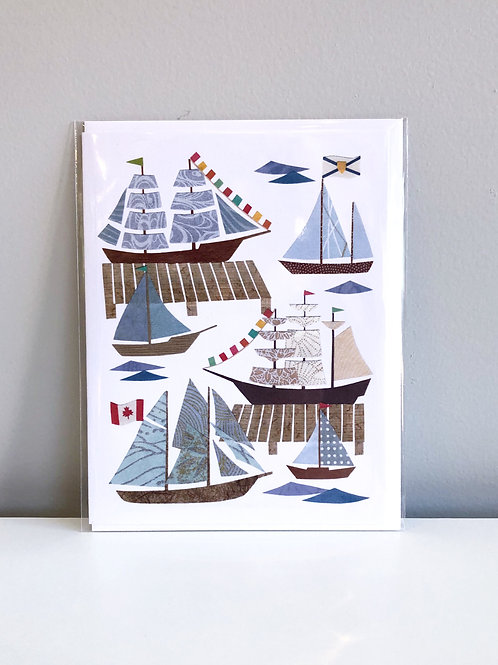 Tall Ships Card | Cards by Kate