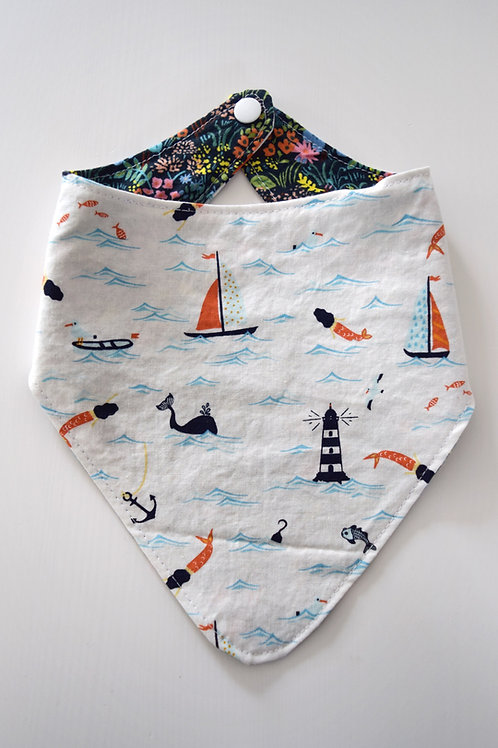 Reversible Bandana Bibs | Nautical