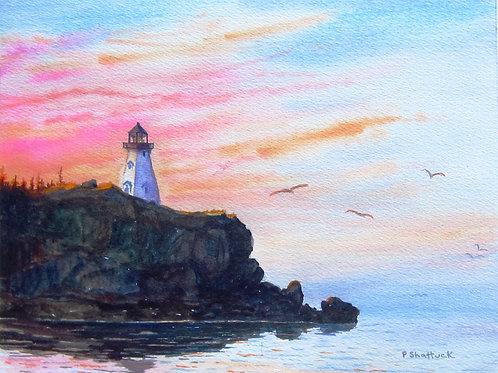Long Island Sunset - Original Painting | Pat Shattuck
