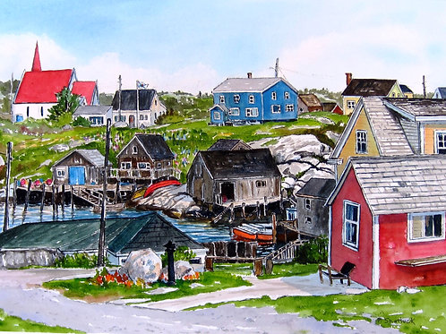 Some Nice Day in Peggy's Cove - Original Painting | Pat Shattuck