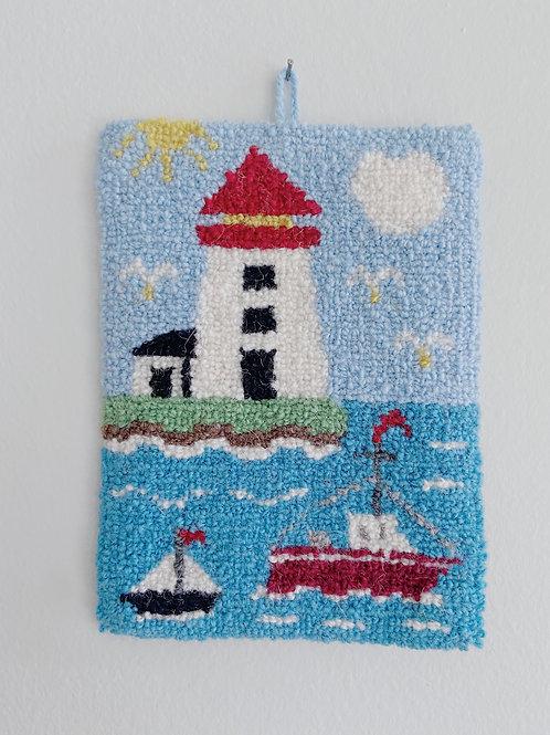 Maritime Lighthouse Hanging | Cheticamp Rug Hooking