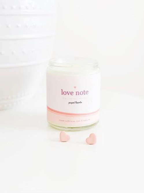 Love Note Candle | Halifax Paper Hearts