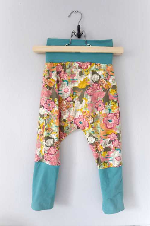 Grow-With-Me Pants | Earthtone Floral + Turquoise