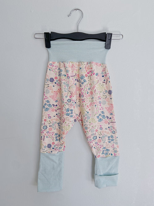 Grow-With-Me Pants | Pale Blue + Pink Floral | Saelvage