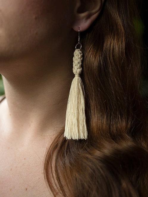 Crown Knot Tassel Earrings | Little Queen