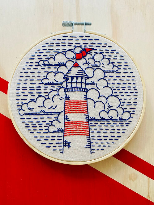 Lighthouse Complete Embroidery Kit | Hook, Line + Tinker