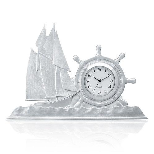 Bluenose Clock   Amos Pewter