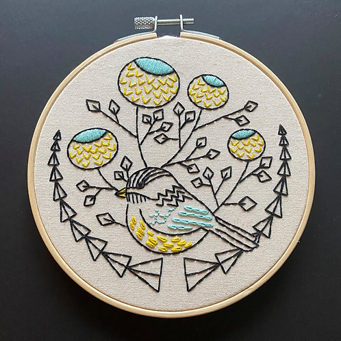 Chickadee Complete Embroidery Kit | Hook, Line + Tinker