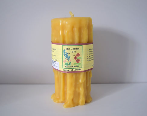 The Garden Bee Beeswax Candles