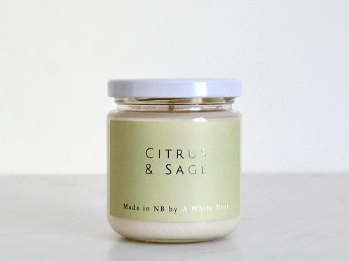 Citrus + Sage Candle | A White Nest