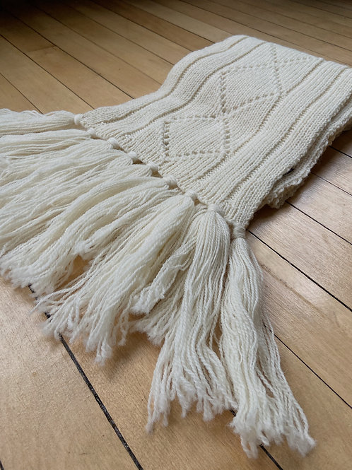 Traditional Pattern Scarf - Cream | NWK