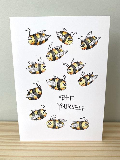 Bee Yourself Card   Helen Painter
