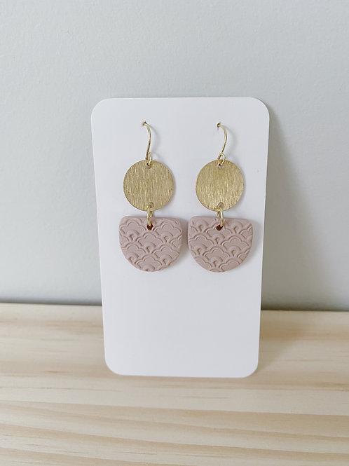 Eyelet Pink Dangle Earrings | Something Handmade