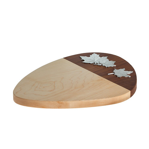 Maple Leaf Roasted Cheese Board   Amos Pewter