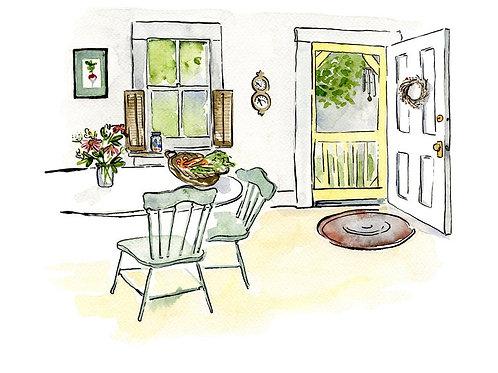 Farmhouse Kitchen | 8x10 | Kat Frick Miller