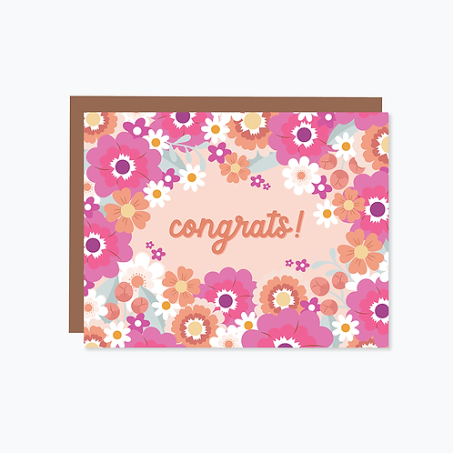 Daisy Daydreams: Peachy Congrats Card   Halifax Paper Hearts
