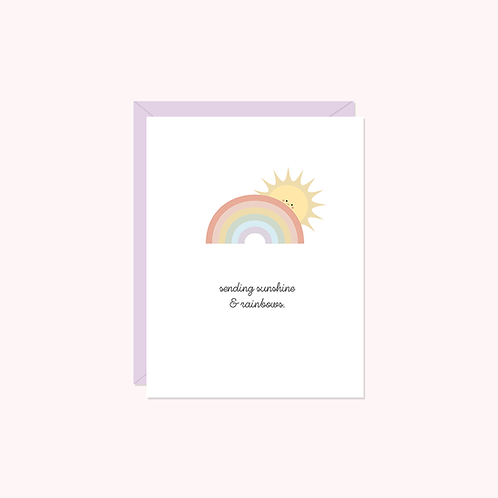 Sending Sunshine & Rainbows Card | Halifax Paper Hearts