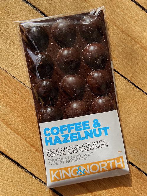 Coffee & Hazelnut Chocolate Bar | King & North Chocolate