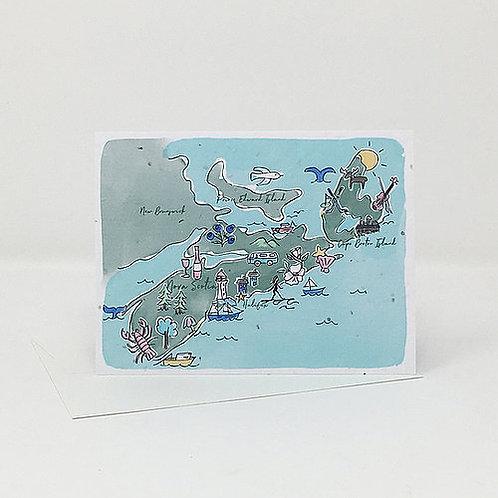 Map of Nova Scotia- Wildflower Seed Card | Jill + Jack Paper