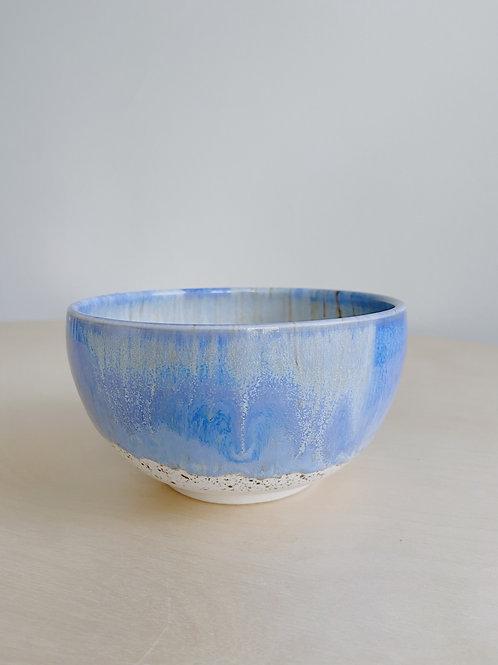 Blue + Oatmeal Small Bowl | Kym's Pottery Studio