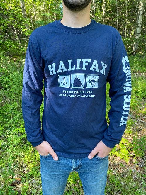 Halifax Navy Schooner Long Sleeve T-Shirt   Tall Ships Trading Co.
