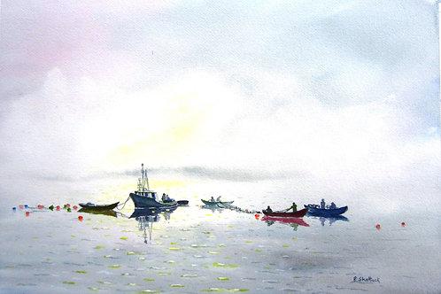 Morning Catch- Original Painting | Pat Shattuck