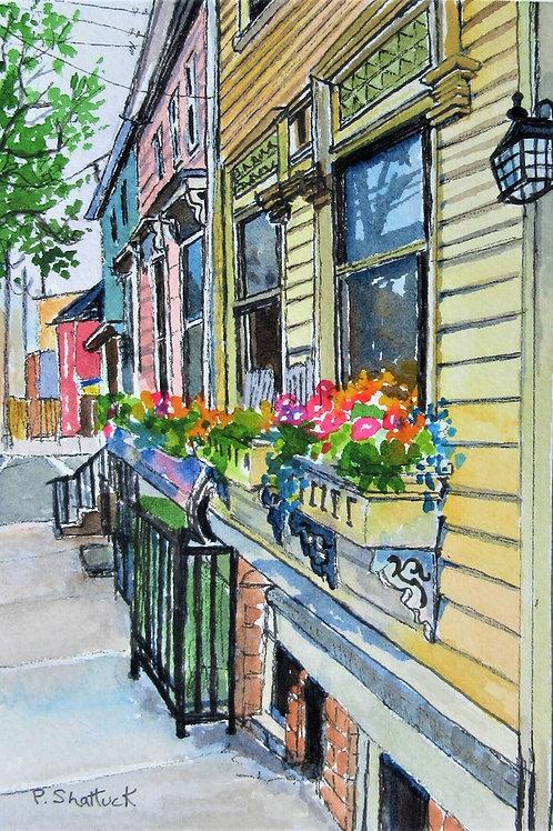 All in a Row - Original Painting | Pat Shattuck