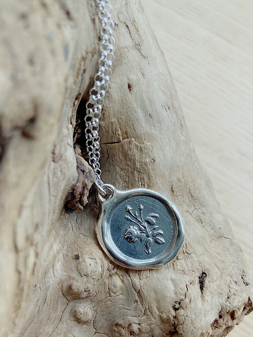 Rose Silver Necklace | True love + Adoration | Plum + Posey