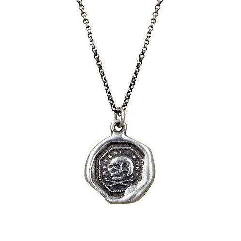 Memento Mori - Skull Silver Pendant | Plum + Posey