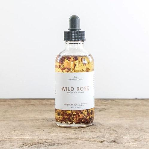 Wild Rose Botanical  Body + Bath Oil | Wildwood Creek