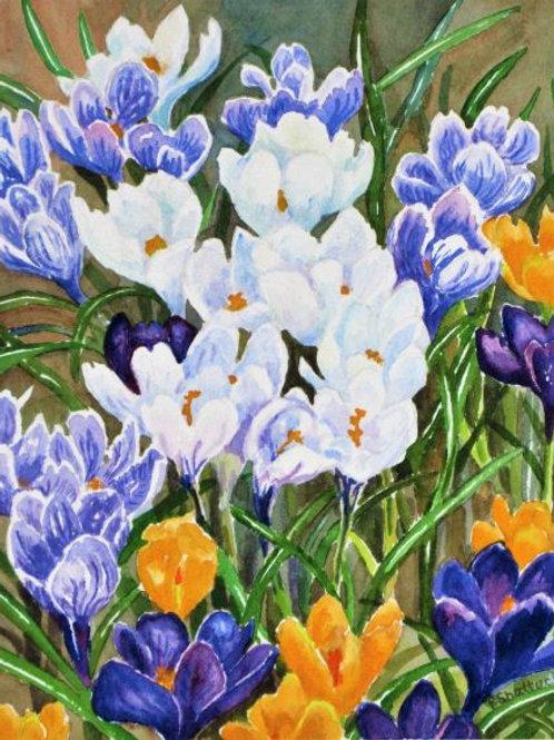 Spring Friends- Original Painting | Pat Shattuck