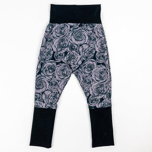 Grow-With-Me Pants | Grey Rose + Black