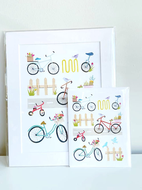 Spring Cycling | Cards by Kate