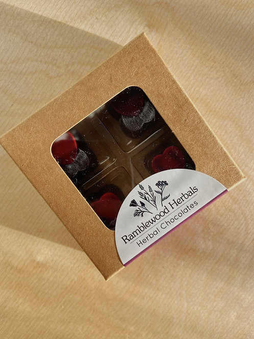 Lover's Tonic Chocolate Truffles- Box of 4 |  Ramblewood Herbals
