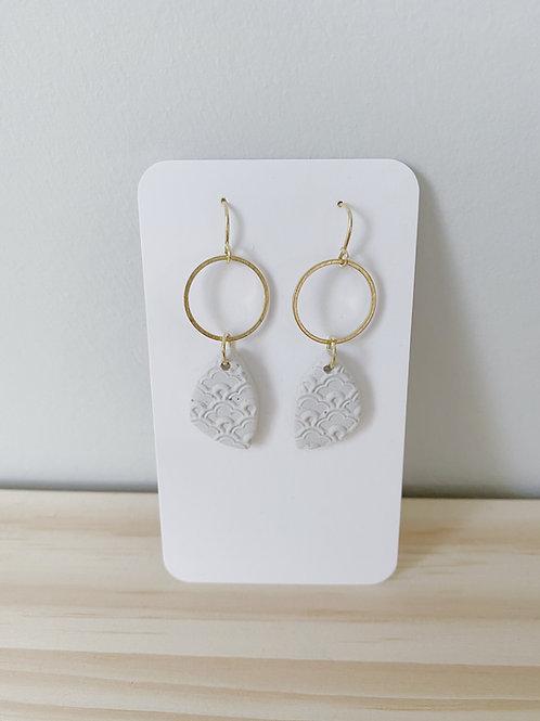 'Hope' Oatmeal Eyelet Earrings | Something Handmade