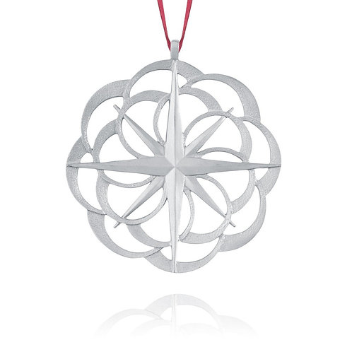 Compass Rose2011Collector Ornament | Amos Pewter