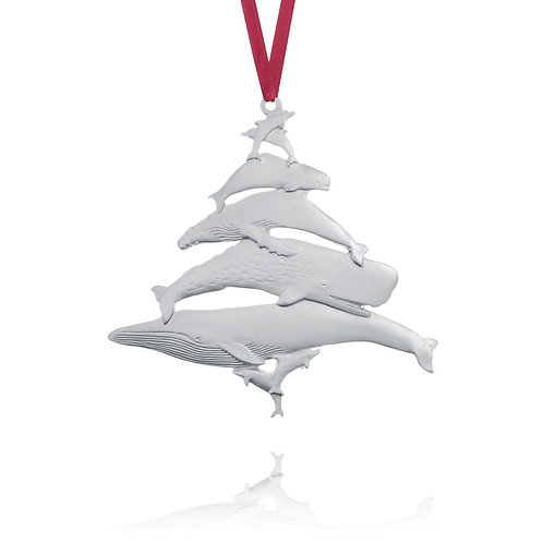 Whales 1994 Collector Ornament | Amos Pewter