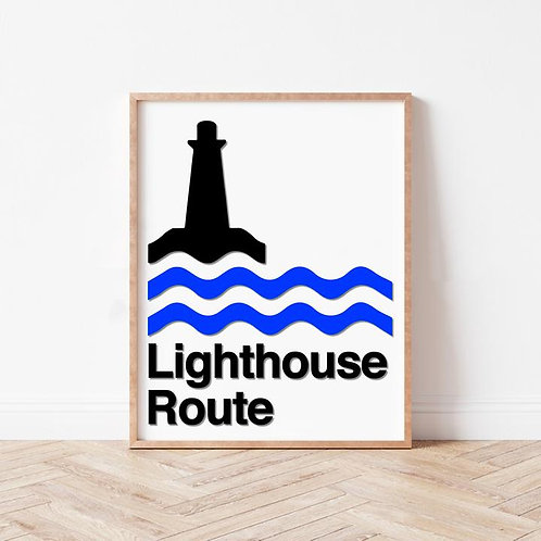 Lighthouse Route Wall Art | Nova Scotia Scenic Drive Series | The Boathouse
