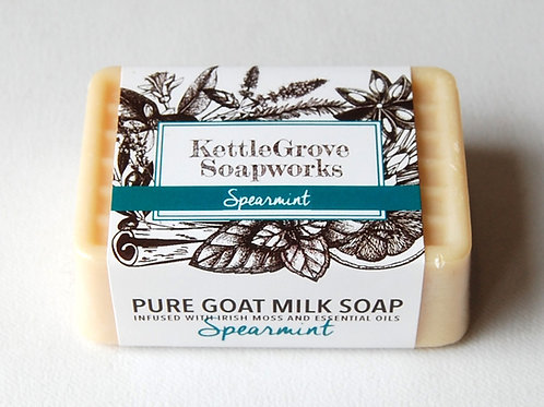 Spearmint Goat Milk Soap | Kettlegrove Soapworks