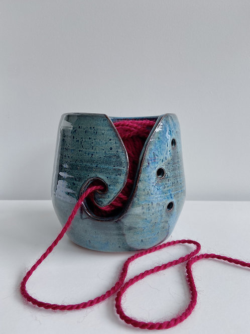 Sea Blue Yarn Bowl | Sea Winds Pottery