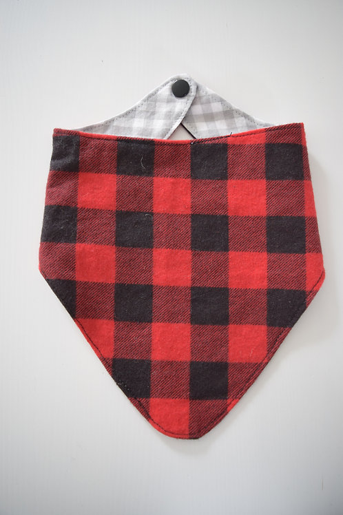 Reversible Bandana Bibs | Plaid