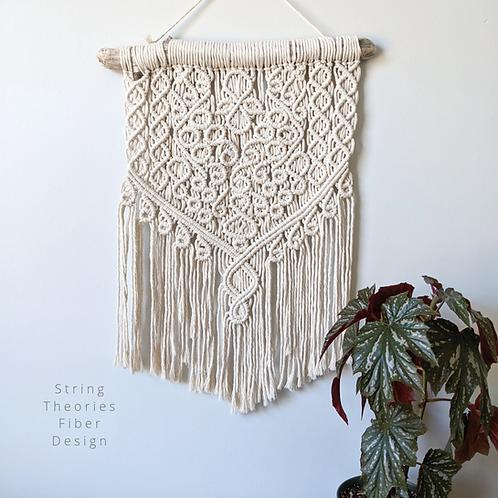 Intricate Cream Macrame Wall Hanging | String Theories Fiber Design