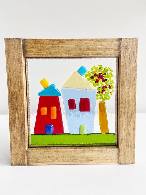 "Small Framed ""In the Neighbourhood"" Scene | Canoe Cove Studio"