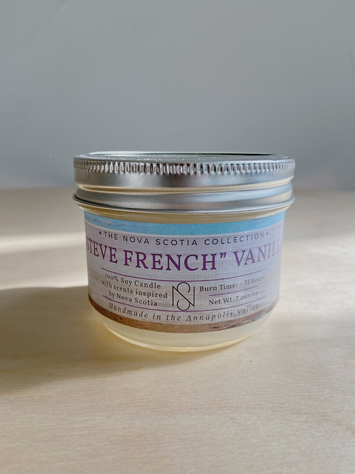 """""""Steve French"""" Vanilla Candle 