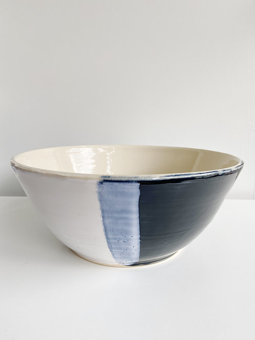 Black + White Salad Bowl | Anderson Pottery